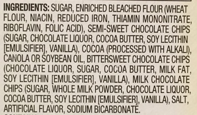 Image result for ingredients list food label