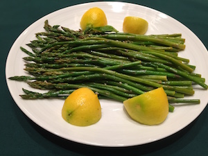 Asparagus with garlic and meyer lemon