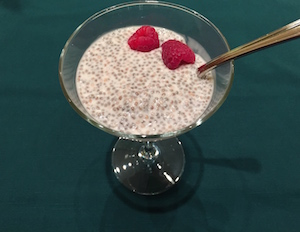 Chia seed coconut milk pudding