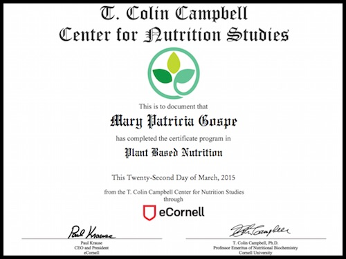 Plant-based Nutrition Certification – T. Colin Campbell Center for ...